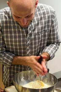 making the crepe batter